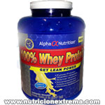100% Whey Protein. Maximiza el crecimiento muscular, facil absorcion. Alpha Nutrition